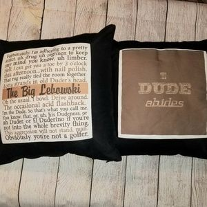 The Big Lebowski throw pillow covers 17x17